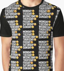 2c4c6521 Moods of the Week Expressed Through Emojis Graphic T-Shirt