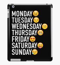 Stimmungen der Woche ausgedrückt durch Emojis iPad-Hülle & Klebefolie