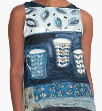 cups in conversation Contrast Tank