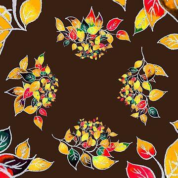 Pattern with Autumn Leaves by CarolineLembke