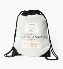 Christmas Songs Diagram Drawstring Bag