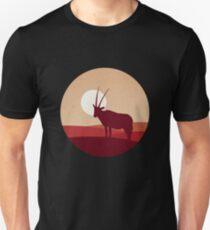 Springbok Antelope Desert Horizon Flat Landscape T-Shirt