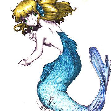 Mermaid [Blank Background] by LiliumOfChaos