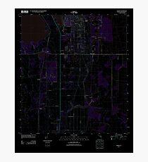 USGS TOPO Map Florida FL Childs 20120725 TM Inverted Photographic Print