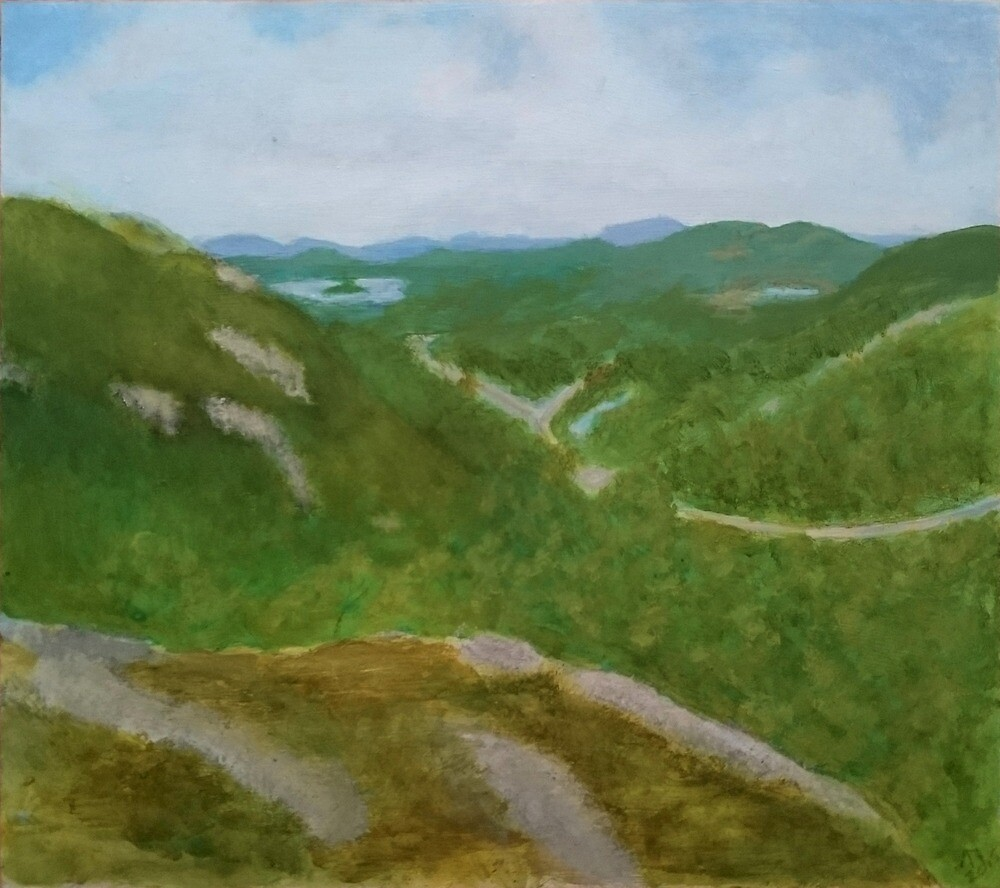 View from Litlløkkjhaugen by Linda Ursin