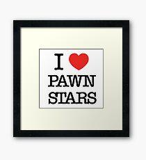 I Heart Pawn Stars (Parody) Framed Print