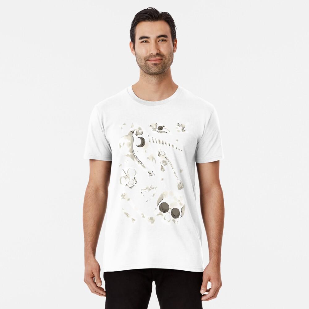 black Skulls and Bones - Wunderkammer Premium T-Shirt