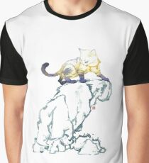 Chinese Tian Gou, a Heavenly Cat Graphic T-Shirt