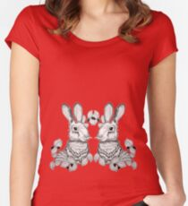 The Blackberry Hares Women's Fitted Scoop T-Shirt