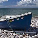 Blue boat by Steve plowman