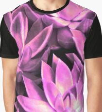 Bright Light Pink Echeverias Graphic T-Shirt