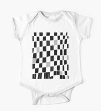 Funky check black grey white One Piece - Short Sleeve