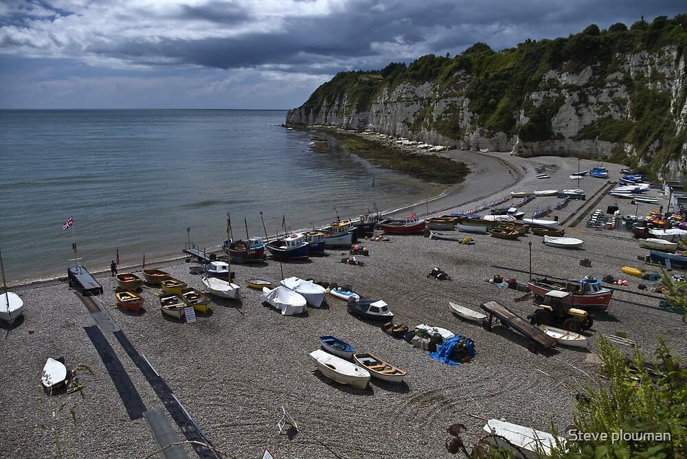 Boats on the beach. by Steve plowman