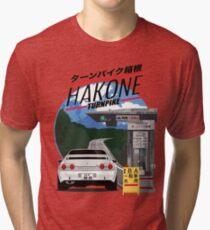 Hakone NISSAN Skyline R32 GTR Tri-blend T-Shirt