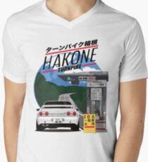 Hakone NISSAN Skyline R32 GTR Men's V-Neck T-Shirt