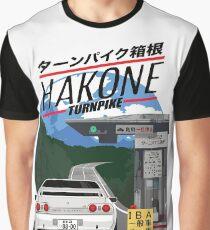 Hakone NISSAN Skyline R32 GTR Graphic T-Shirt