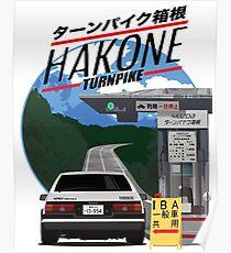 Póster Hakone Toyota AE86 Trueno