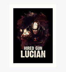 League of Legends HIRED GUN LUCIAN Art Print