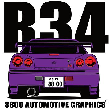 Nissan Skyline R34 GTR Purple Version by 8800ag