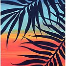 Palm Tree at Sunset by LindaZArtist