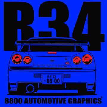 Nissan Skyline R34 Transparent Version by 8800ag