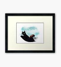 Toothless - How to train your dragon FANART Framed Print
