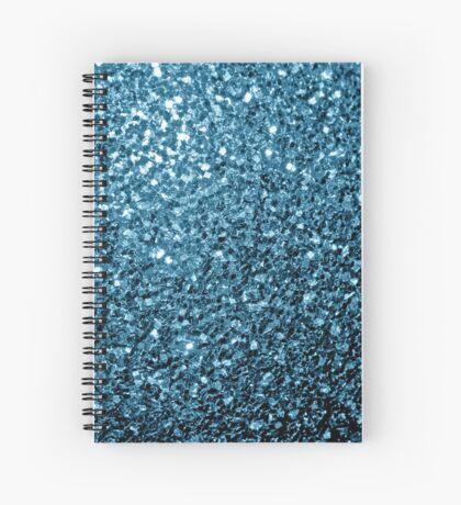 Beautiful Baby blue glitter sparkles Spiral Notebook