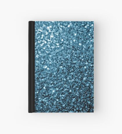 Beautiful Baby blue glitter sparkles Hardcover Journal
