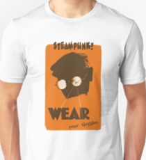 Steampunk - Wear Your Goggles! Safety Poster T-Shirt