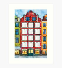Stockholm Calendar 2018 Art Print
