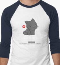 Cat-ion Men's Baseball ¾ T-Shirt