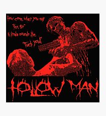 「Bloody Hollow Man」Horror Movie Kevin Bacon T Shirt Photographic Print