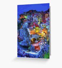 Manarola - An italian landscape  Greeting Card