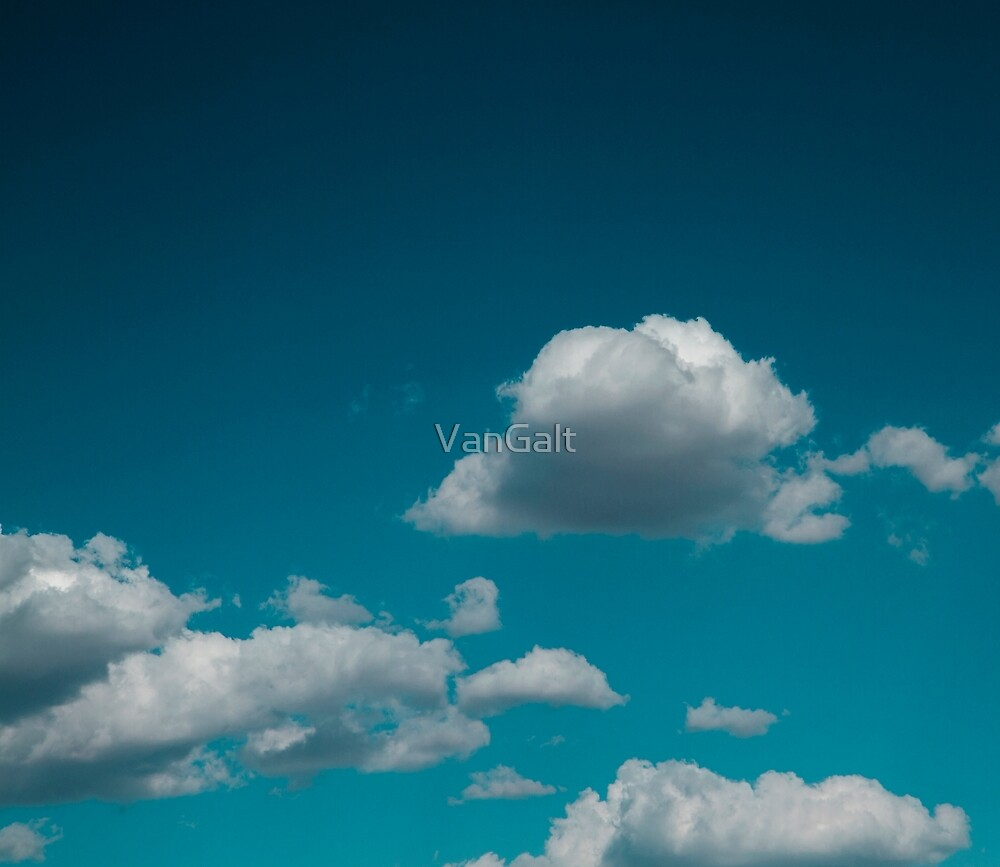 Sky and clouds in summer. by VanGalt