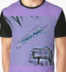The Day The Music Died - Feb 3 1959 Graphic T-Shirt
