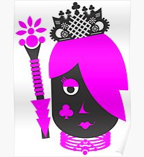 purple haired queen Poster