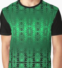 Green and Black Graphic T-Shirt