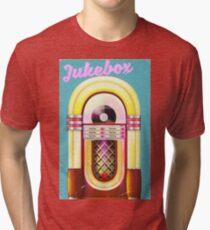 vintage Jukebox poser, Tri-blend T-Shirt