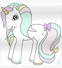 Rainbow unicorn my little pony Poster