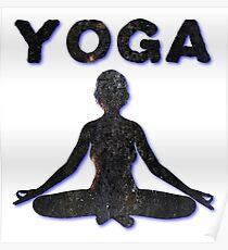 Yoga Meditating Female Poster