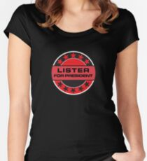 Lister For President Women's Fitted Scoop T-Shirt