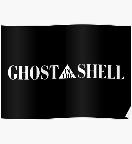 Ghost In The Shell Title (White) Poster