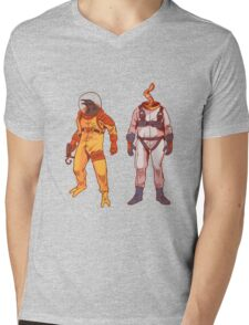 Earthworm Jim & Psycrow Mens V-Neck T-Shirt
