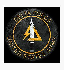 Delta Force Vintage Insignia Photographic Print
