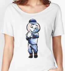 Mr. Met Middle Finger Women's Relaxed Fit T-Shirt