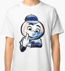 Mr. Met Middle Finger Close Up Classic T-Shirt