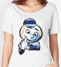 Mr. Met Middle Finger Close Up Women's Relaxed Fit T-Shirt