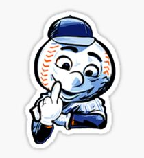 Mr. Met Middle Finger Close Up Sticker
