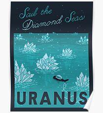 URANUS Space Tourism Travel Poster Poster
