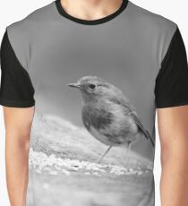 Robin in black and white Graphic T-Shirt